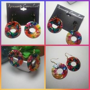 Multi color round Earrings! (NWT)